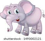 elephant on white background... | Shutterstock .eps vector #1493002121