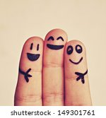 happy fingers | Shutterstock . vector #149301761