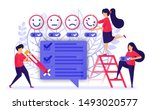 people give review and fill out ...   Shutterstock .eps vector #1493020577