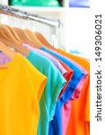 variety of casual t shirts on...   Shutterstock . vector #149306021