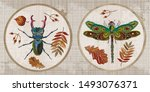 embroidery collection. insects. ...   Shutterstock .eps vector #1493076371