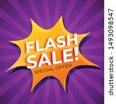 flash sale popup comic style | Shutterstock .eps vector #1493098547