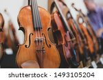 Details With Parts Of Violins...