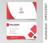 modern creative name card. red...   Shutterstock .eps vector #1493123567
