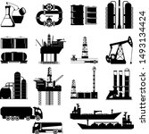 set of abstract  oil and gas... | Shutterstock .eps vector #1493134424