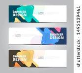 abstract banner design template ... | Shutterstock .eps vector #1493139461
