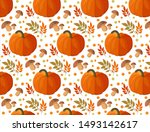 autumn pattern. background with ...   Shutterstock . vector #1493142617