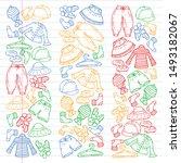 vector set of hand drawn... | Shutterstock .eps vector #1493182067