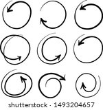 hand drawn circle line sketch... | Shutterstock .eps vector #1493204657