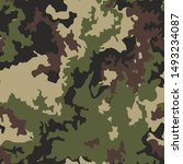 seamless fashion camouflage... | Shutterstock . vector #1493234087