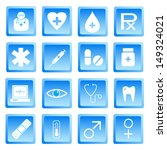 medical and health icon set... | Shutterstock .eps vector #149324021