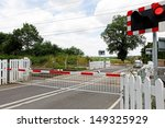 A Railway Level Crossing In Th...