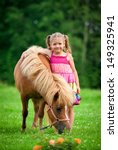 Little Girl With Pony