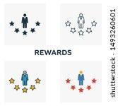 rewards outline icon. thin line ...
