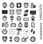 clock icons set | Shutterstock .eps vector #149327375