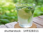 soda with lime and mint | Shutterstock . vector #149328311