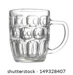 Empty Beer Mug On White...