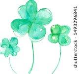 Symbol Of Good Luck  Four Leaf...