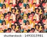 women pattern. cute... | Shutterstock .eps vector #1493315981