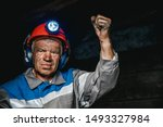 Miner Man Hands Protest Fist Up ...
