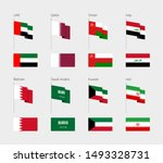 flags of the persian gulf... | Shutterstock .eps vector #1493328731