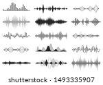 black sound waves. music audio... | Shutterstock . vector #1493335907