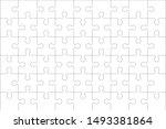 puzzles blank template with... | Shutterstock .eps vector #1493381864
