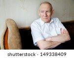 portrait of a pensive senior... | Shutterstock . vector #149338409