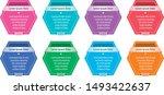 eight colored hexagon sticker.... | Shutterstock .eps vector #1493422637