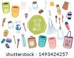 full set of items for eco... | Shutterstock .eps vector #1493424257