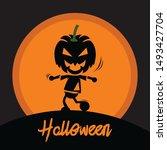 Halloween Pumpkin Dancing Under ...