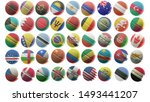 high quality flags on a white... | Shutterstock . vector #1493441207