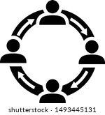 people network illustration.... | Shutterstock .eps vector #1493445131
