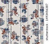 vector seamless pattern tartan... | Shutterstock .eps vector #1493456387