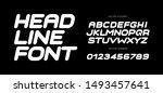 speed letters set. white race... | Shutterstock .eps vector #1493457641