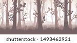 forest twilight vector... | Shutterstock .eps vector #1493462921