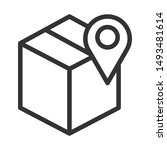 box with location icon isolated ...