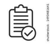 checklist icon isolated on...