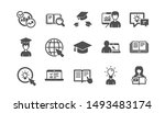education icons. book  video... | Shutterstock .eps vector #1493483174