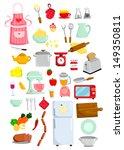 kitchen vector set | Shutterstock .eps vector #149350811