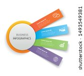 infographics circle paper with... | Shutterstock .eps vector #1493549381