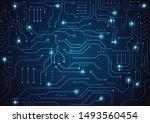 high tech technology geometric...   Shutterstock .eps vector #1493560454