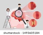 teamwork of doctors is... | Shutterstock .eps vector #1493605184