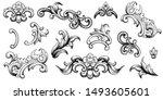 vintage baroque victorian frame ... | Shutterstock .eps vector #1493605601