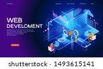 programming web banner. best... | Shutterstock .eps vector #1493615141