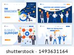 set of landing page design... | Shutterstock .eps vector #1493631164