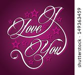 pink  i love you   vector... | Shutterstock .eps vector #149363459