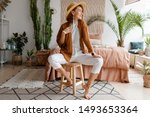 fashionable image of happy... | Shutterstock . vector #1493653364