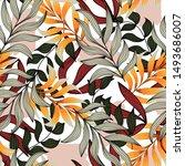 modern seamless pattern with... | Shutterstock .eps vector #1493686007