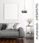 modern interior of living room... | Shutterstock . vector #1493694791